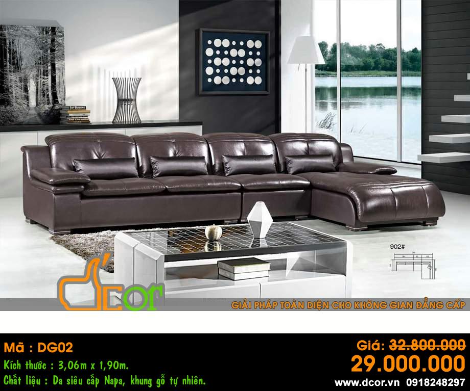 Sofa da bóng phòng khách
