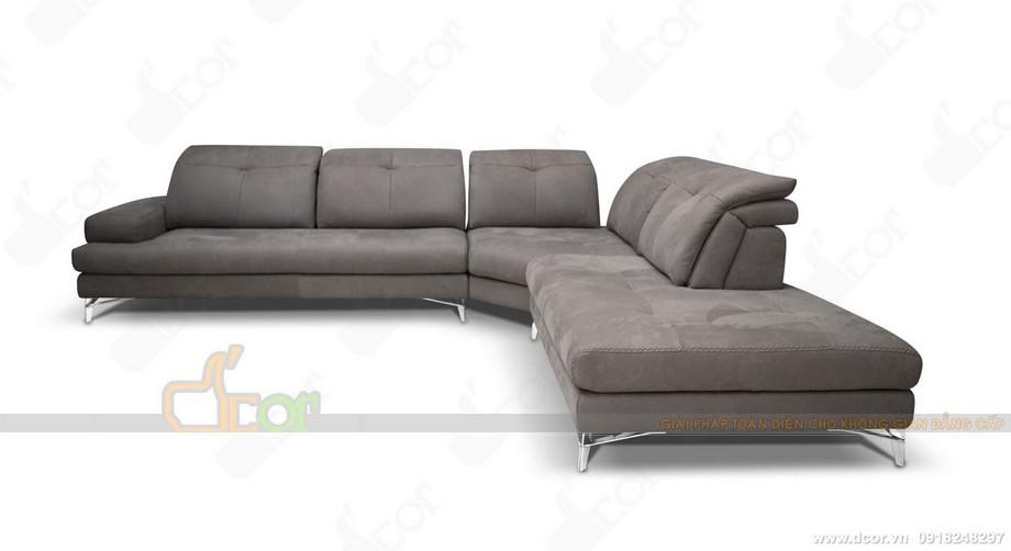 Sofa góc da thật hiện đại