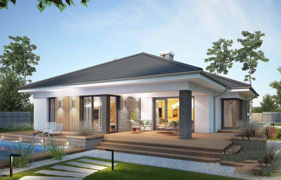Thiết kế biệt thự vườn 4 phòng ngủ có hồ bơi hiện đại