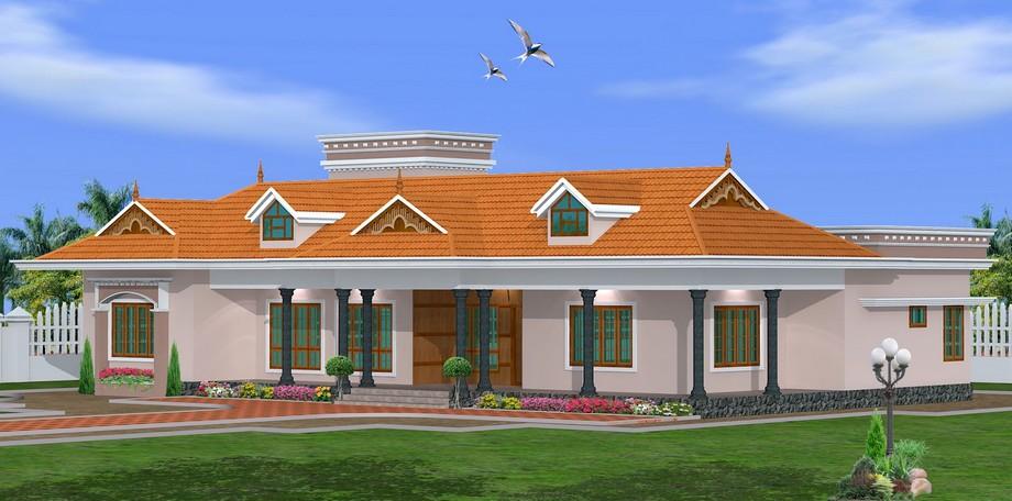 Thiết kế biệt thự vườn 4 phòng ngủ 1 tầng