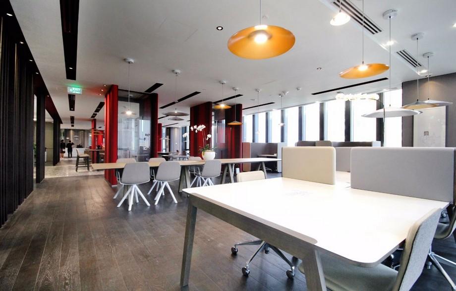 Thiết kế không gian làm việc dạng mở đẹp của văn phòng ảo RegusDeutsches Haus