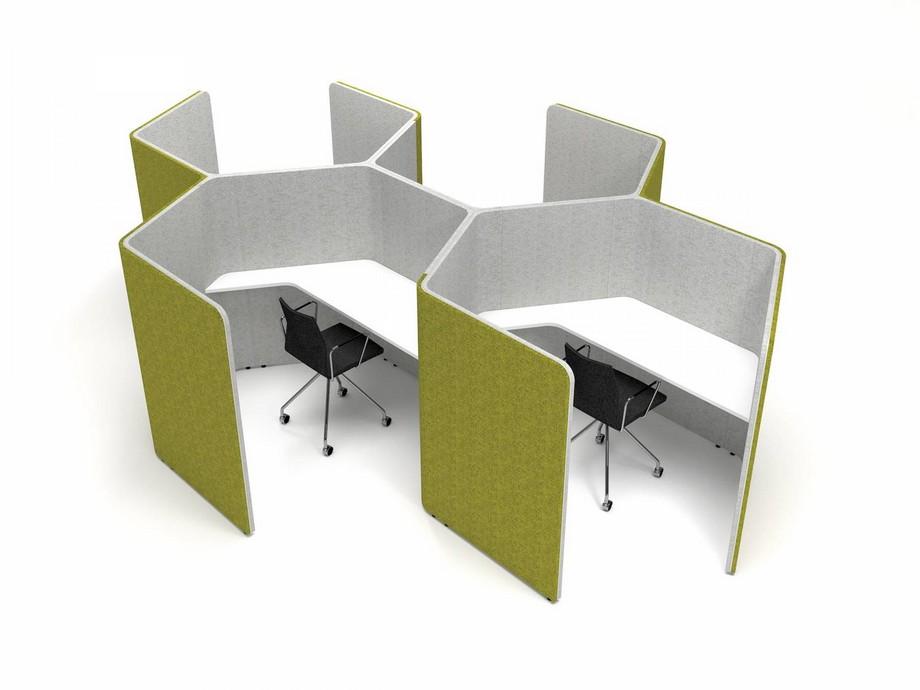 Vách ngăn gỗ thông minh , kín đáo cho một căn phòng nhỏ ốp đệm mềm mại , có đầy đủ tiện ích như ổ căm sạc, máy tính...cho người sử dụng.