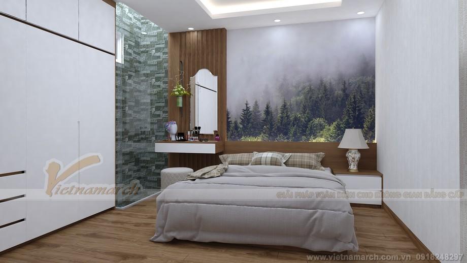 Thiết kế nhà lô nhà phố tầng 3-Phòng ngủ ông bà