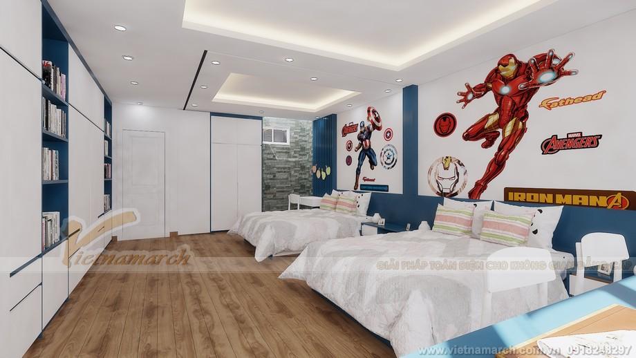 Thiết kế tầng 4-Phòng ngủ của hai con trai
