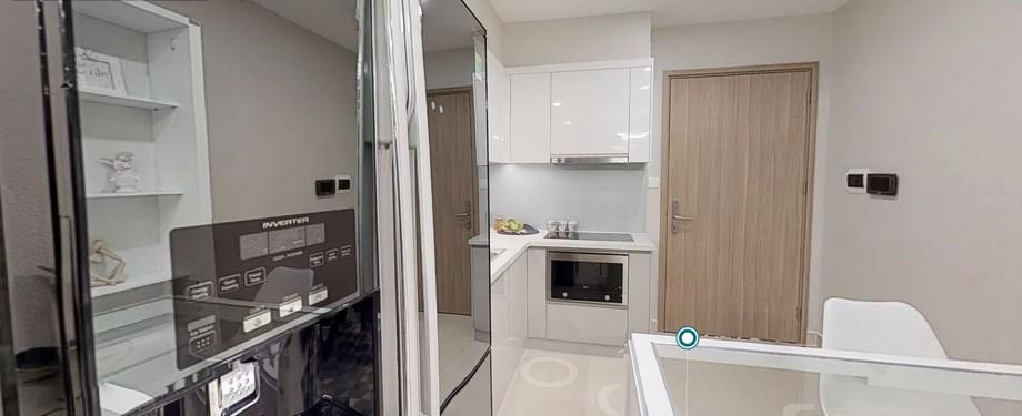 Thiết kế nội thất phòng bếp căn 2 phòng ngủ