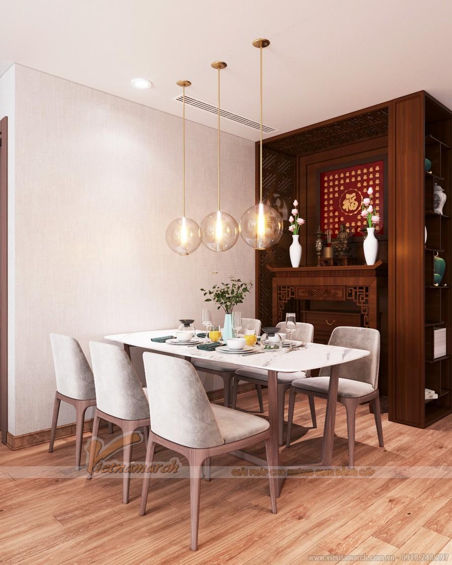 Thiết kế không gian phòng thờ trang nghiêm và chi tiết trong không gian phòng khách