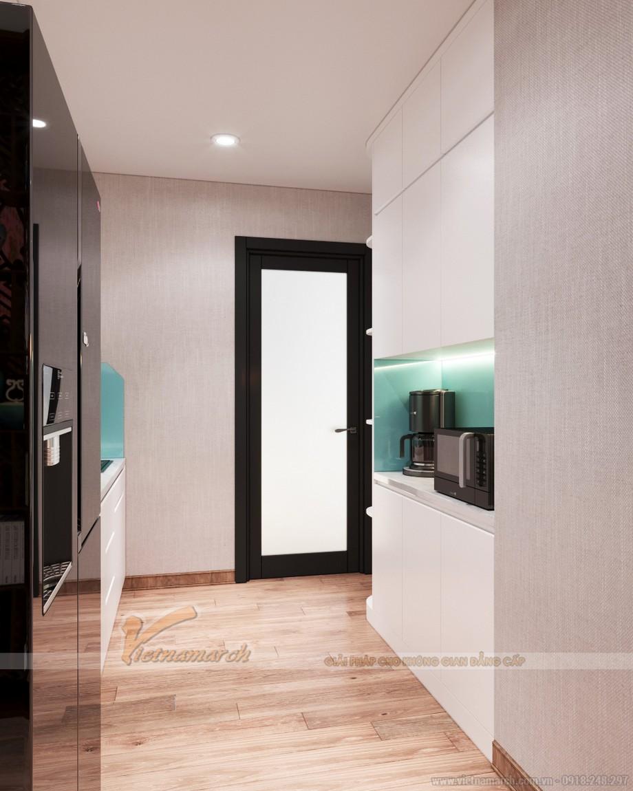 Thiết kế phòng bếp sang trọng trong chung cư