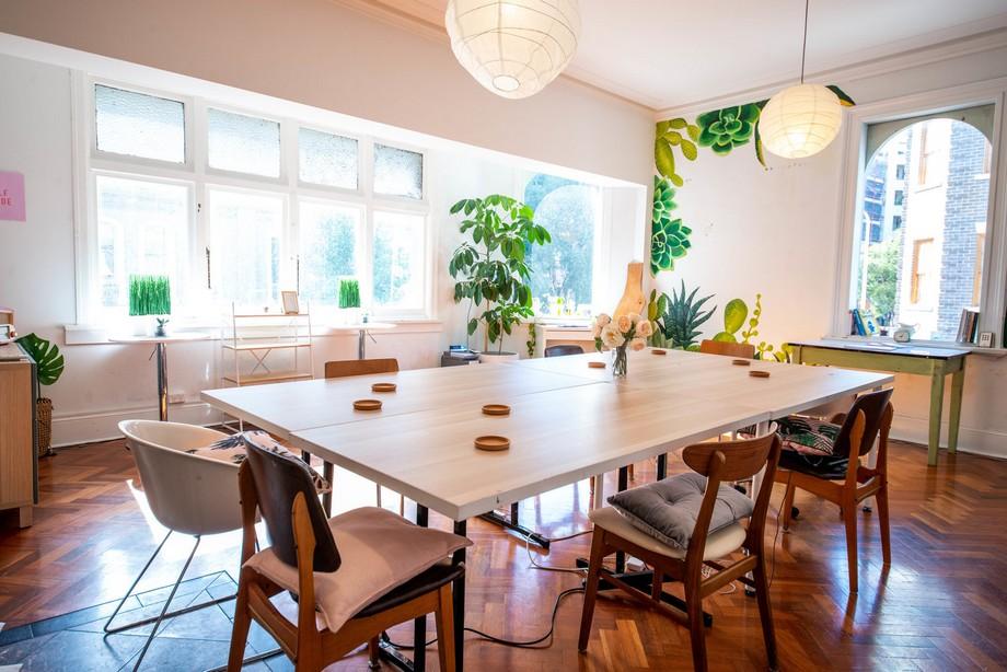 18 mẫu thiết kế bàn ăn cho không gian làm việc chung coworking space ấn tượng trên từng centimet