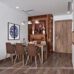 Thiết kế lắp đặt nội thất phòng thờ kết hợp phòng khách cho chung cư  Vinhomes Skylake Phạm Hùng