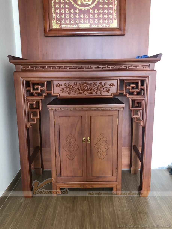 mầu bàn thờ đứng mã số BTD 04 , là mẫu bàn thờ chạm sen ấn tượng nhất