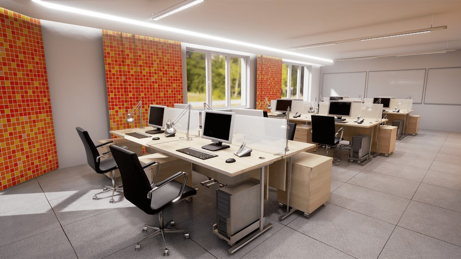 Thiết kế văn phòng 30m2 không gian mở
