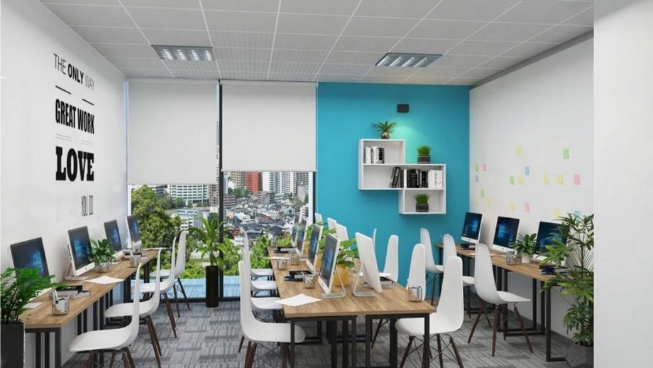 Thiết kế văn phòng 30m2 với gam màu tươi sáng
