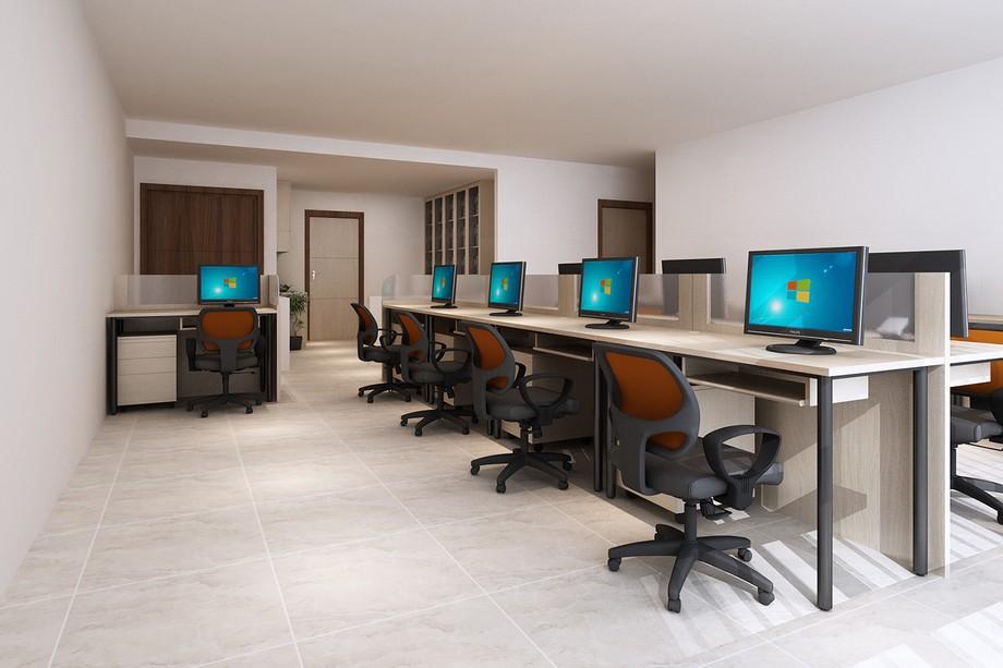 Thiết kế văn phòng 30m2 với nội thất đơn giản