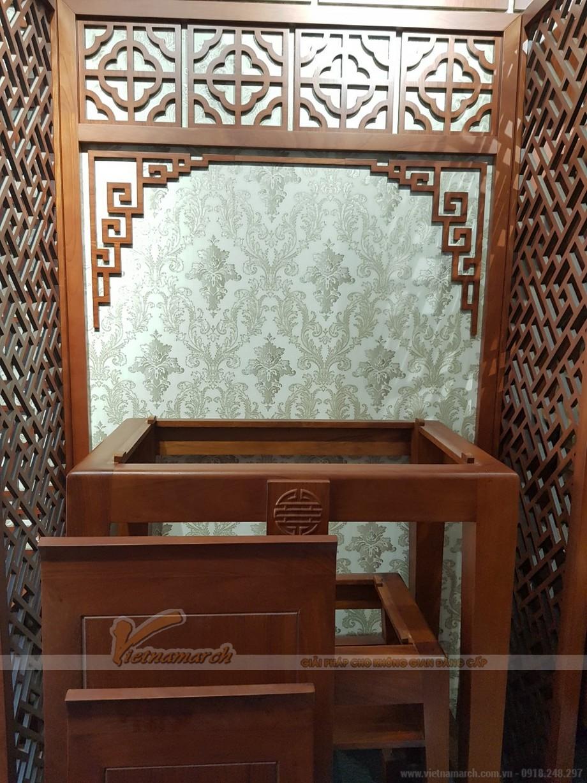 Bán bàn thờ đứng gỗ gõ cao cấp cho gia đình anh Công- Biên Hòa