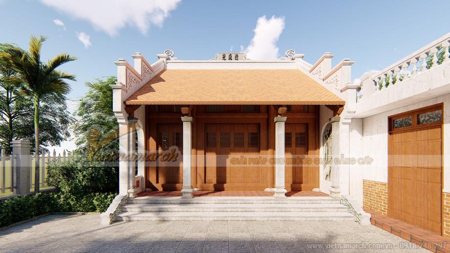 Phối cảnh 3D nhà thờ họ của chú Tạo ở Thanh Hóa