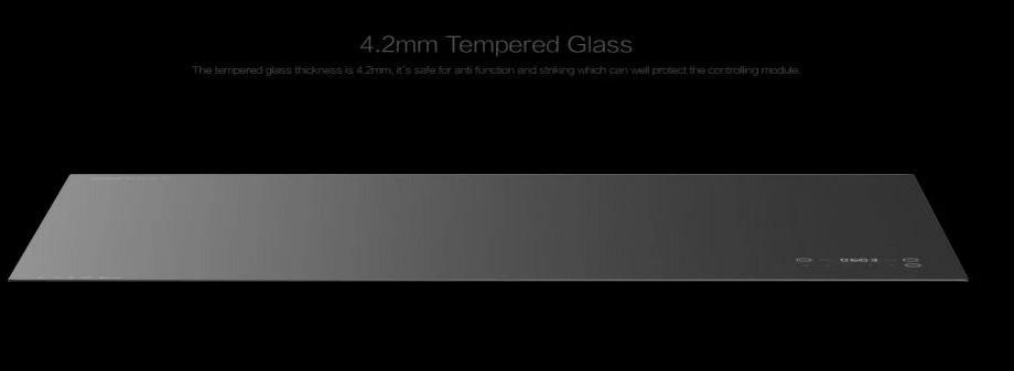 Mẫu bàn trà làm bằng kính cường lực dày 4,2mm