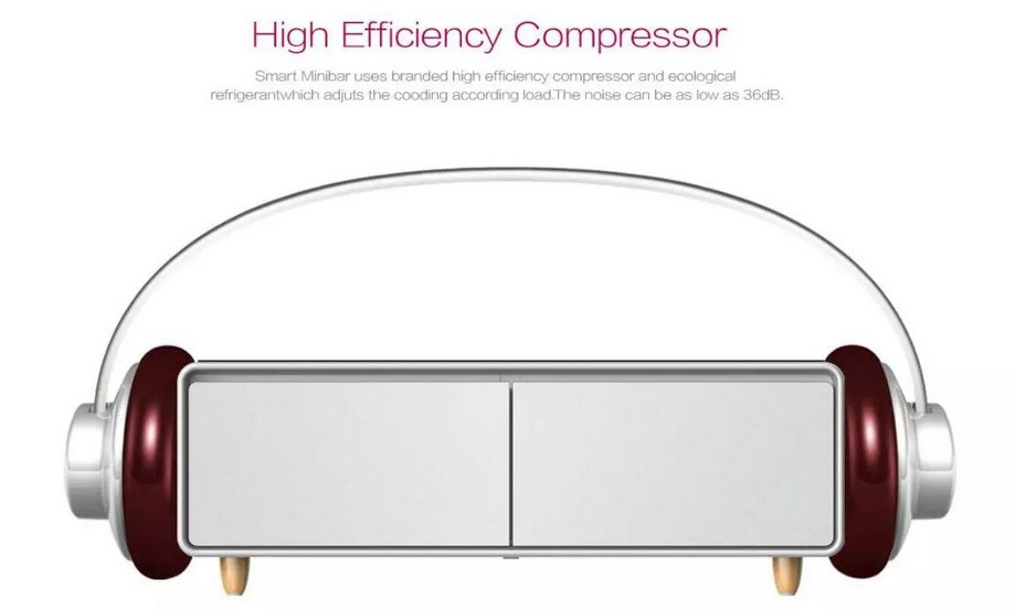 Mẫu bàn trà thông minh kết hợp tủ lạnh, máy phát nhạc, cổng sạc, loa bluetooth ít gây tiếng ồn cao