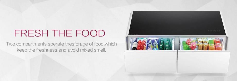 Mẫu bàn trà thông minh kết hợp tủ lạnh
