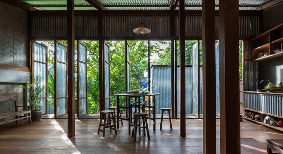 Tổng diện tích sử dụng của nhà gỗ đẹp nhất An Giang là 340m2 gồm 3 tầng