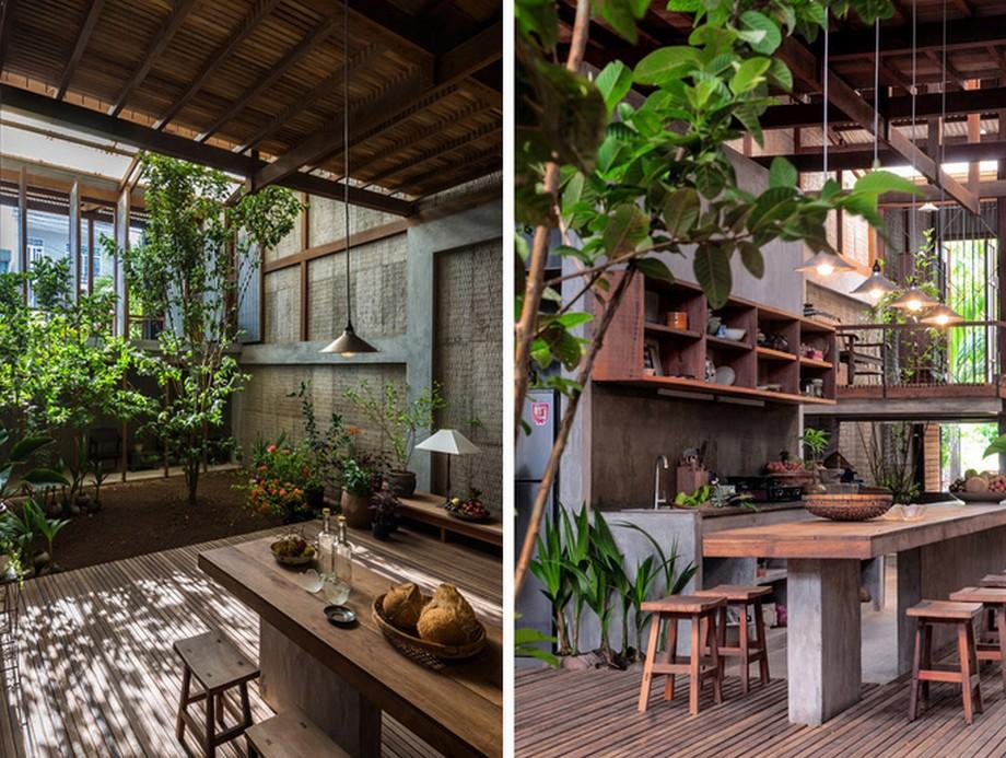Không gian xanh được bố trí trong nhà gỗ đẹp nhất An Giang