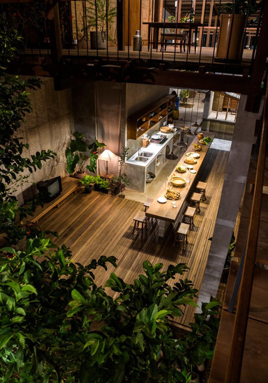 Căn nhà gỗ đẹp nhất An Giang được thiết kế vừa hiện đại vừa truyền thống