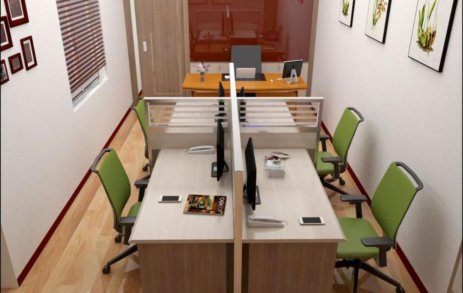 Thiết kế nội thất văn phòng hẹp chuyên nghiệp