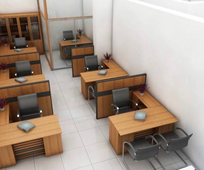 Thiết kế nội thất văn phòng hẹp