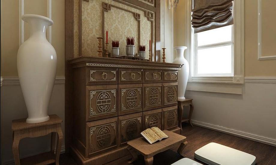 Tủ thờ cao chuẩn kích thước Lỗ Ban, phong thủy phong cách hiện đại
