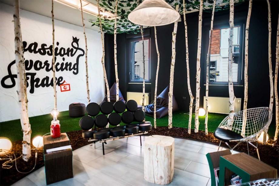 Mẫu thiết kế không gian làm việc chung - coworking spaceTalent Garden tại Milano