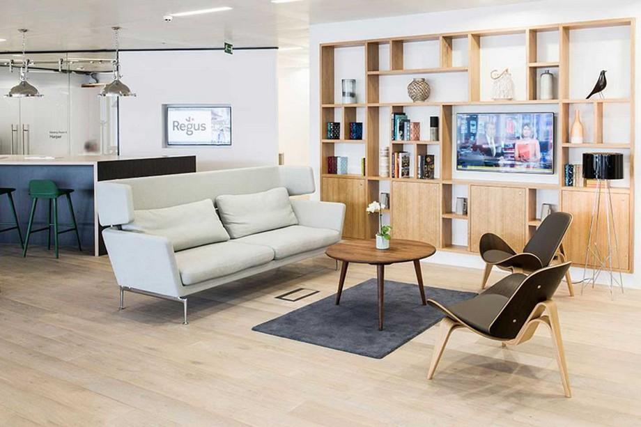 Mẫu thiết kế không gian làm việc chung - coworking space Regus tại Milano
