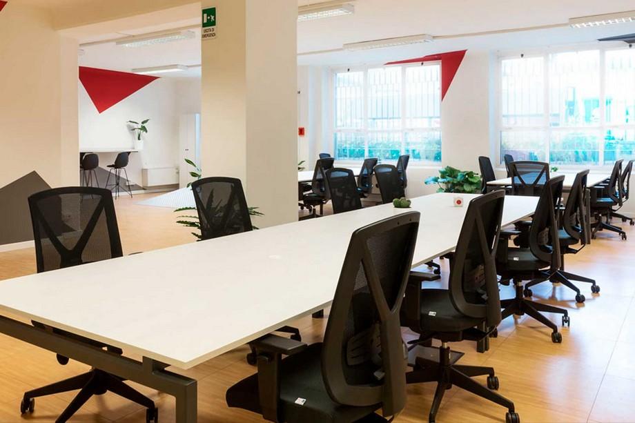 Mẫu thiết kế không gian làm việc chung - coworking space Donatello tại Milano