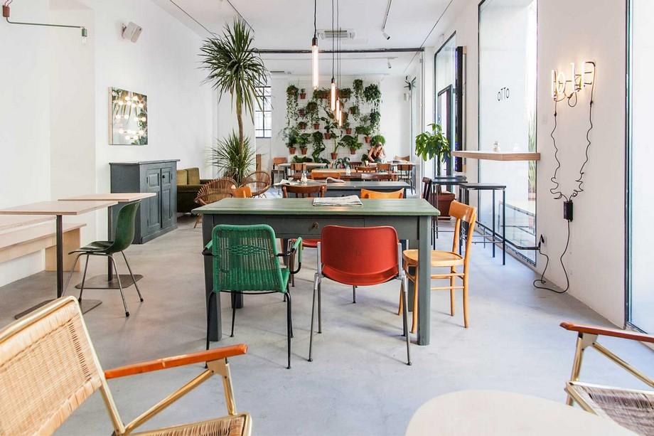Mẫu thiết kế không gian làm việc chung - coworking space Otto tại Milano