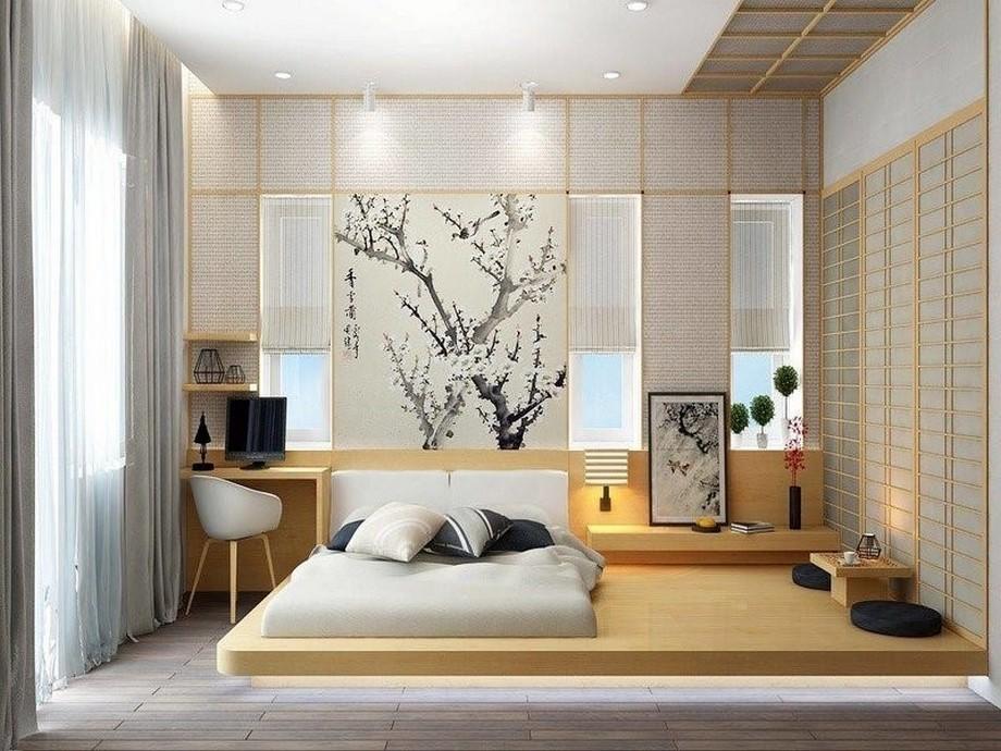 Thiết kế phòng ngủ nhà chung cư đẹp nhất 2019 phong cách Nhật