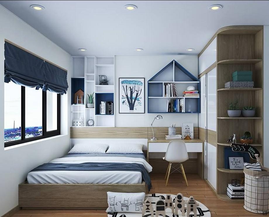 Thiết kế phòng ngủ trẻ em nhà chung cư đẹp nhất 2019 phong cách hiện đại