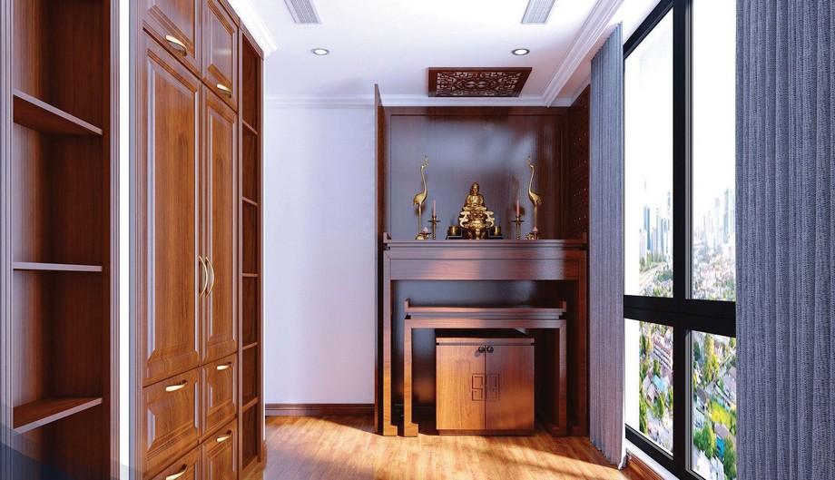 Thiết kế phòng thờ nhà chung cư đẹp nhất 2019 phong cách hiện đại
