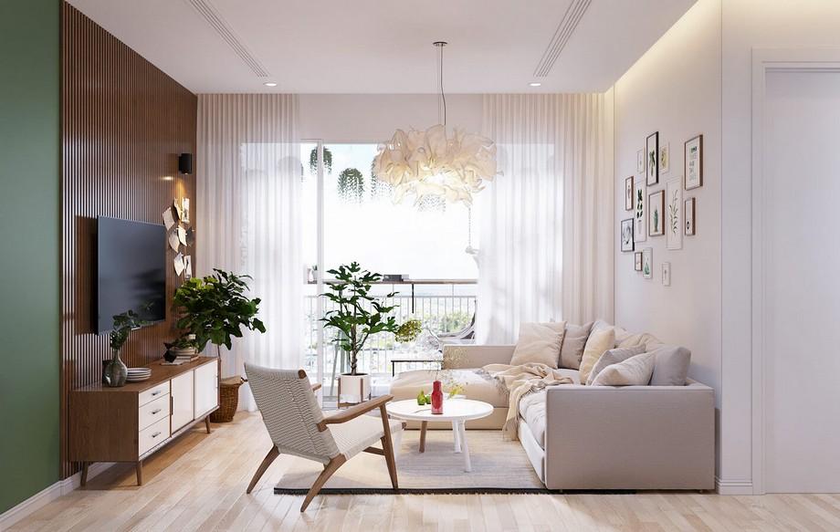 Thiết kế phòng khách nhà chung cư đẹp nhất 2019 phong cách Bắc Âu
