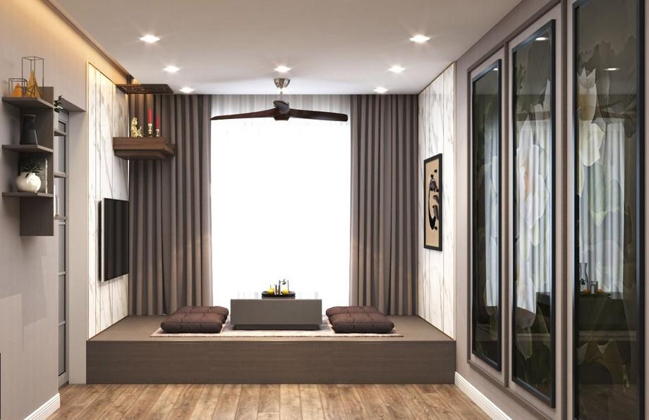 Thiết kế phòng khách nhà chung cư đẹp nhất 2019 phong cách Nhật