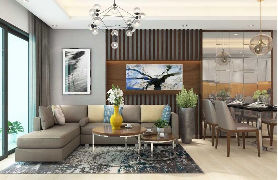 Thiết kế phòng khách nhà chung cư đẹp nhất 2019 phong cách hiện đại