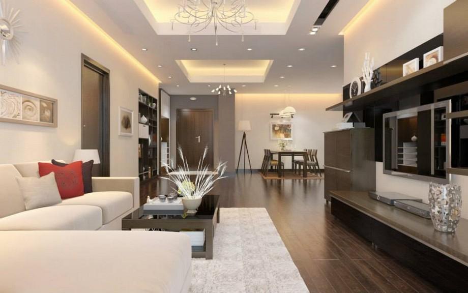 Thiết kế phòng khách nhà chung cư đẹp nhất 2019 hiện đại