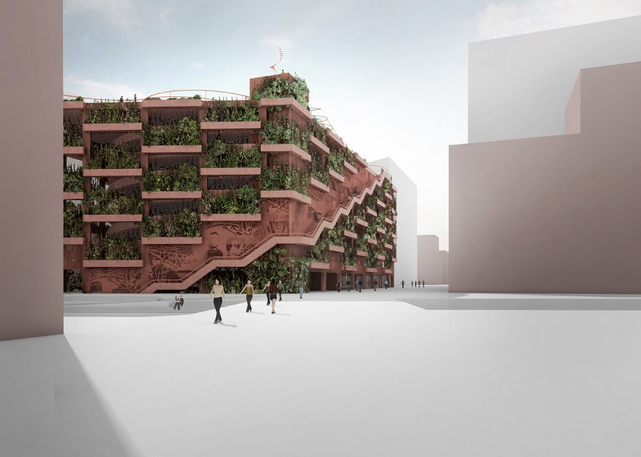 Dự án thiết kế bãi đậu xe thông minh kết hợp công viên cây xanh nhiều tiện ích