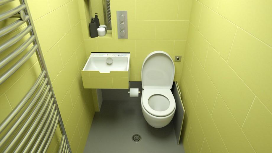 Mẫu bồn cầu ẩn thông minh được thiết kế ẩn trong tường hoặc tủ thú vị