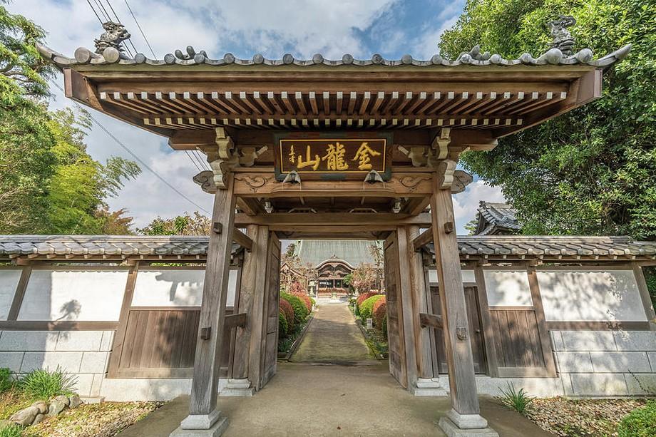 Cổng chùa Josenin Nhật Bản 1 lối vào