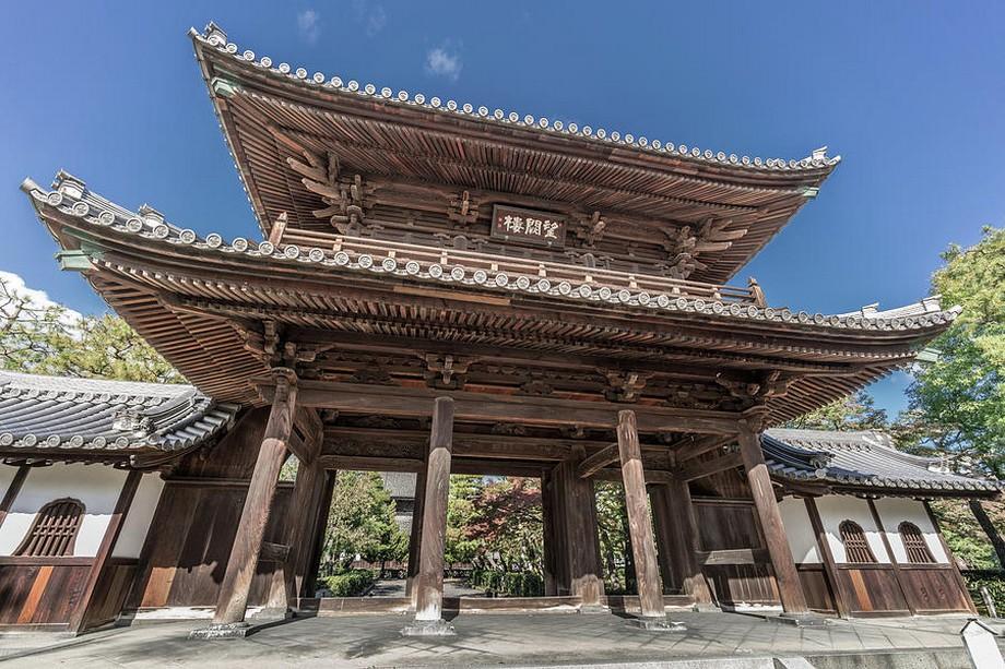 Cổng chùa Nhật Bản đẹp tại Kennin ji - Kyoto