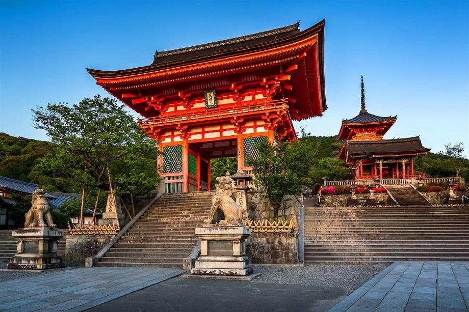 Cổng chùa Kiyomizu dera Nhật Bản ấn tượng