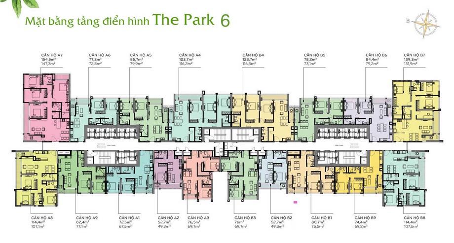 Thiết kế nội thất chung cư - mặt bằng The Park 6 Vinhomes Central Park