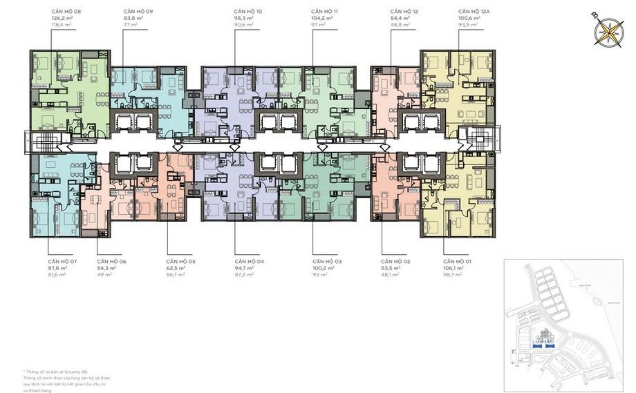 Thiết kế nội thất chung cư - mặt bằng The Lamdmark 2,3 Vinhomes Central Park