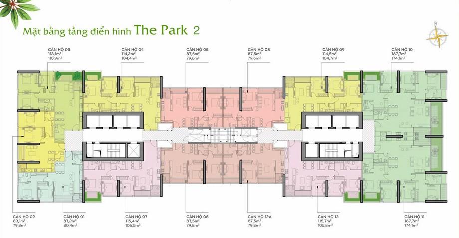 Thiết kế nội thất chung cư - mặt bằng The Park 2 Vinhomes Central Park