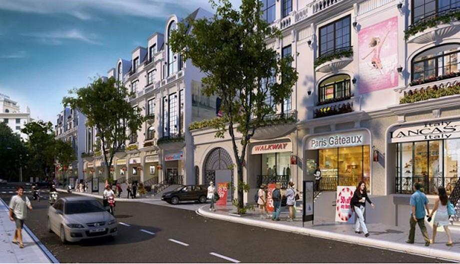 Phối cảnh nhà phố shophouse tại dự án đô thị Vinhomes Grand Park