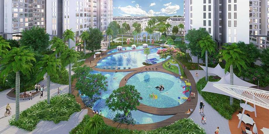 Hồ bơi trong dự án đô thị Vinhomes Grand Park