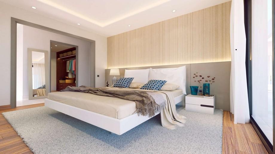 Thiết kế nội thất phòng ngủ master biệt thự hiện đại tại Nueva Andalucia